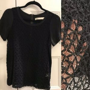 Madewell lace top worn once, black, small